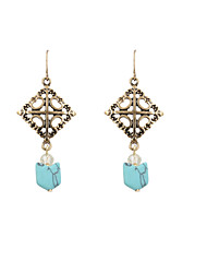 Fashion Women Vintage Natural Stone Drop Earrings