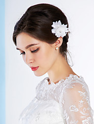 Women's Fabric Headpiece-Wedding Special Occasion Outdoor Hair Combs Flowers