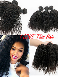 "3 Bundles Malaysian Kinky Curly Virgin Remy Hair 8""-30"" Unprocessed Human Hair Weave Afro Curl Human Hair Weaves"
