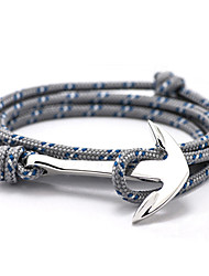 2015 New High Quality Jewelry Navy Risers Silver Anchor Bracelet For Men Women inspirational bracelets