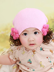 Kid's Fashion Flower Baby Hair Cotton Warm Cap
