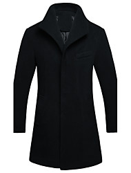 Autumn and winter men's wool coat and British fashion young mens jacket windbreaker long tide