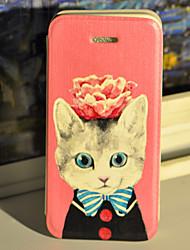 minous astucieux étui en cuir PU avec protecteur d'écran et un câble USB et un stylet pour iPhone 5 / 5s