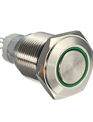 10pcs 16 mm avec fin de bouton de verrouillage automatique LED bleue feux verts interrupteur rouge du bouton d'alimentation en aluminium