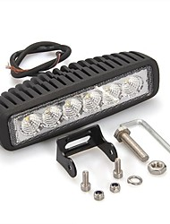 "CARCHET 18W 6"" 6 White Epistar LED Off Road Work Flood Light Bar Car"