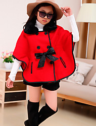 Girl's Cotton Blend  Vogue Winter / Fall  Double-Breasted Fur Collar Shawl  Mantle Clothing  Tops
