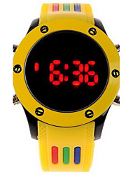 Unisex Digital LED Colorful Rubber Sport Watch Wrist Watch Cool Watch Unique Watch Fashion Watch