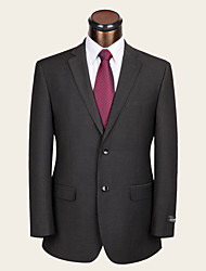 Suits Standard Fit Notch Single Breasted Two-buttons Wool / Viscose Checkered / Gingham 2 Pieces Dark Gray
