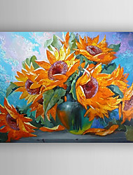 Oil Painting Impression Sunflowers Painting Hand Painted Canvas with Stretched Framed Ready to Hang