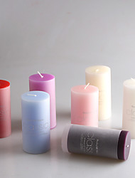 Aromatherapy Smoke-Free Wax Candles Column Candles Holiday / Music Modern/Contemporary / Romantic Wedding