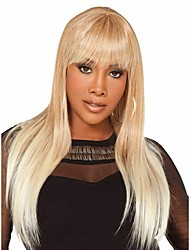 Blonde & White Syntheic Wig   Extensions  Women Lady Bang Of Bob Wigs