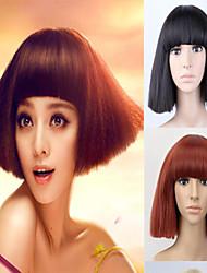 o europeu e americano moda fresco peruca sintética luz marrom preto duas cores opcionais.