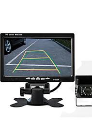 "DearRoad 12-24V 7"" LCD Color Display Screen Monitor + Night Vision HD Waterproof Wide Angle Bus Car Rear View Camera"