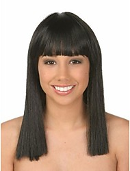 Natural Color Wig Wears Women Lady  Bob Syntheic Wig Banged Extensions