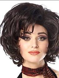 женщины леди горячей продажи короткие натуральные цвета # 1b синтетические парики