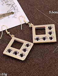 Ohrring,Tropfen-OhrringeSchmuck 2 Stück Aleación Goldfarben / Silber