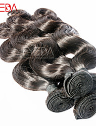 """Cheveux noirs 3pcs / lot 8 """"-30"""" péruvien ondes de corps extensions de cheveux humains remy naturels, non tisse faisceaux"""