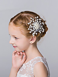 Flower Girl's Imitation Pearl Headpiece-Wedding / Special Occasion / Casual / Outdoor Hair Combs 1 Piece