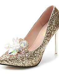 Women's Shoes Stiletto Heel Heels / Pointed Toe / Closed Toe Heels Dress Silver / Gold