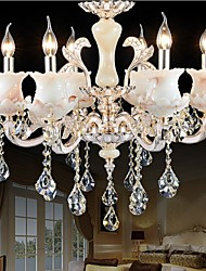 European Style Zinc Alloy Candle Crystal Pendant lamp