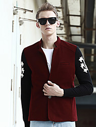 The 2015 men's winter woolen coat windbreaker jacket Mens Casual youth woolen jacket tide