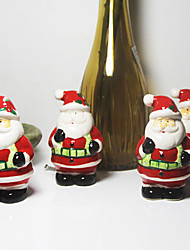 Hand Drawing Underglaze Santa Claus Ceramics Seasoning Salt&Pepper Shakers for Christmas Gift Decoration