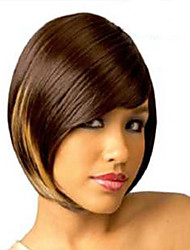 Cheap Price Multicolor Fashionable  Short  Straight  Synthetic  Wigs