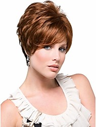Extensions Charming Brown wave wigs European Women Lady Syntheic Wigs