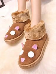 Zapatos de mujer - Tacón Plano - Botas de Nieve - Botas - Exterior / Casual - Tejido - Negro / Amarillo / Rosa / Gris