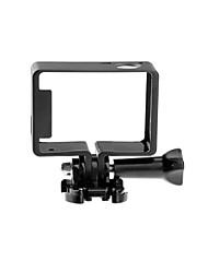 3pcs In 1 Accessoires GoPro Smooth Frame Pour Gopro Hero 3+ / Gopro Hero 4 Pratique Aluminium noir