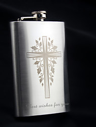 Personalized Stainless Steel Hip Flasks 9-oz  Flask Gift