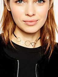 Women's Fashion Geometric Metal Short Necklace