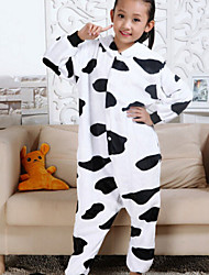 Flannel Household Clothing In The Fall And Winter Of Cute Baby Cows Sleeper Suit Men And Women