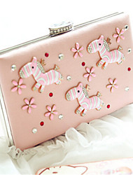 Schoudertas / Clutch / Avondtasje / Mobile Phone Bag - Roze - Baguette - Polyester - Dames
