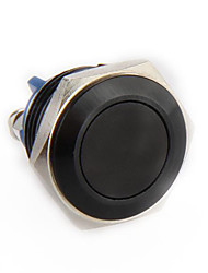 Metal Momentary ON/OFF Push Button Horn Switch Car 16mm Black 12V