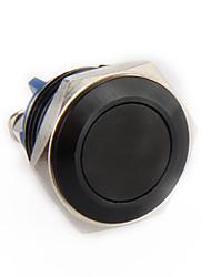 metallo momentaneo on / off spinta auto interruttore corno pulsante 16 millimetri 12v nero