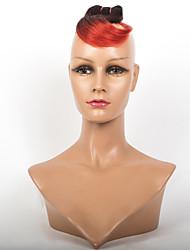 a la venta 1b / de color rojo ombre brasileño 3pcs cabello virgen / lot mejor precio a corto bicolor ondulado virginal del pelo