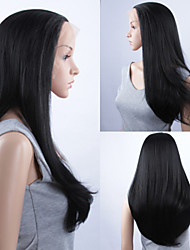 Fashion Synthetic Wigs Lace Front Wigs 32inch Straight Black Heat Resistant Hair Wigs Women