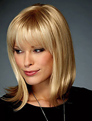 Honey Fashion Trend Human Virgin Remy Hand Tied Top Mid-Length Capless Hair Wigs