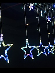 janela cortina de estrelas com luzes cadeia de plug cauda utilizados para exterior / férias / quarto / festa de aniversário / Natal /