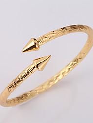 Vogue Men's Women's Cute 18K Chunky Gold Platinum Plated Cuff Bracelet Bangle Jewelry High Quality