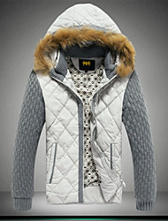 Men's Fashion Hooded 80% White Duck Down Keep Warm Slim Fit Down Coat