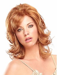 Most Popular  European Women Lady Beautiful BrownColor Syntheic Wigs