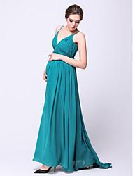 Formal Evening Dress - Maternity A-line Spaghetti Straps Sweep/Brush Train Chiffon