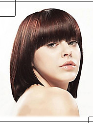 Pretty Smooth Capless Human Virgin Remy Hand Tied-Top Shoulder Length Straight Hair Wigs
