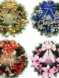 45CM Luxurious Christmas Wreath Pine Needle Garland(Style Random Deliver Goods)