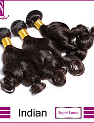 "3 Pcs /Lot 8""-30"" Indian Virgin Super Loose Hair Extensions 100% Unprocessed Virgin Human Hair Weaves"