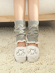 Women's Winter Knitting Lace Wool Warm Windmill Short Leg Warmers