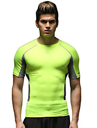 Running Tops Men's Short Sleeve Breathable Running Sports Sports Wear Green S / M / L / XL