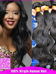 hair 3 feixes monte onda brasileira virgem corpo brasileiro do cabelo humano brasileiro tece 6a brasileiro virgem da onda corpo cabelo